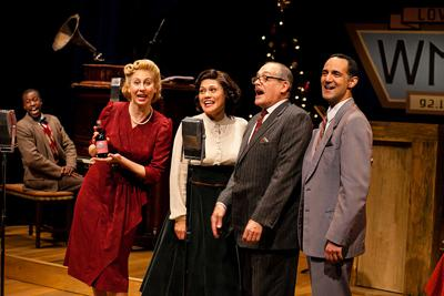 Jason Bowen, Veronica Duerr, Celeste Oliva, Joel Colodner, Nael Nacer in 'It's A Wonderful Life: A Live Radio Play'