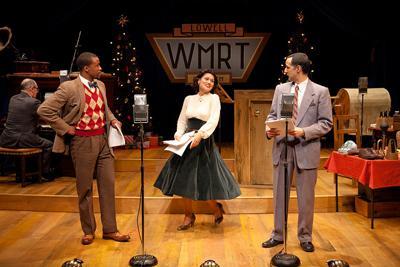Joel Coloder (at piano),Jason Bowen, Celeste Oliva, Nael Nacer in 'It's A Wonderful Life: A Live Radio Play'