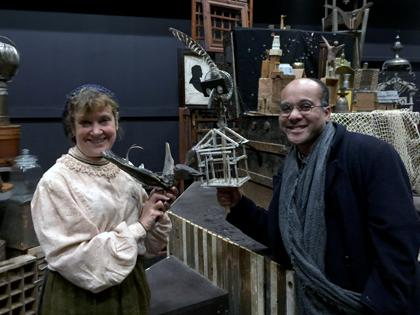 Debra Wise and Alan White on the set of 'Matchless and The Happy Prince'