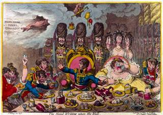 James Gillray, 'The Handwriting Upon The Wall' (1803)