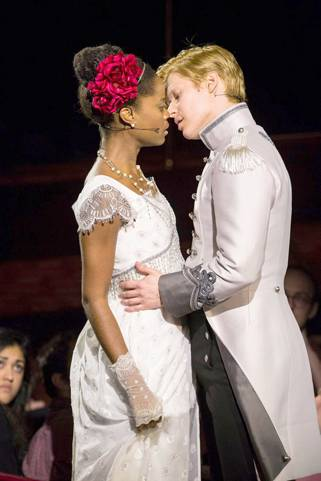Denée Benton as Natasha, Lucas Steele as Anatole in 'Natasha, Pierre & The Great Comet of 1812'