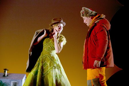 Kayli Carter as Flo, Mark Rylance as Ron in 'Nice Fish'