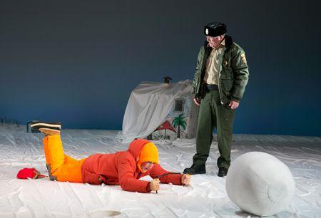 Mark Rylance as Ron, Bob Davis as The DNR Man in 'Nice Fish'