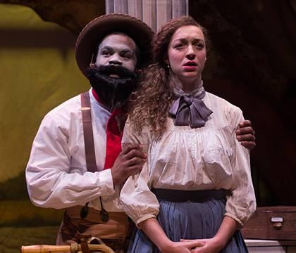 Brandon Green as M'Closky, Shawna M. James as Zoe in 'An Octoroon'