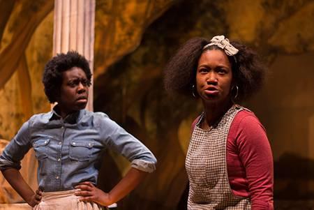 Obehi Janice as Dido, Elle Borders as Minnie in 'An Octoroon'