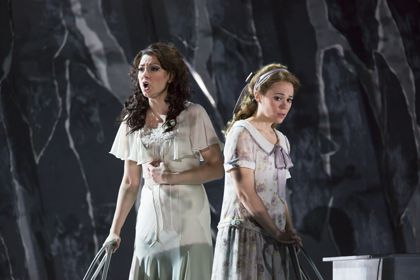 Sandra Piques Eddy as Charlotte, Rachele Gilmore as Sophie in 'Werther'