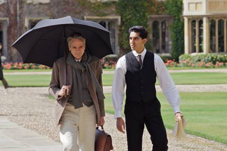 Jeremy Irons as G.H. Hardy, Dev Patel as S. Ramanujan in 'The Man Who Knew Infinity'