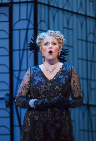 Erin Wall as Hanna Glawari in 'The Merry Widow'