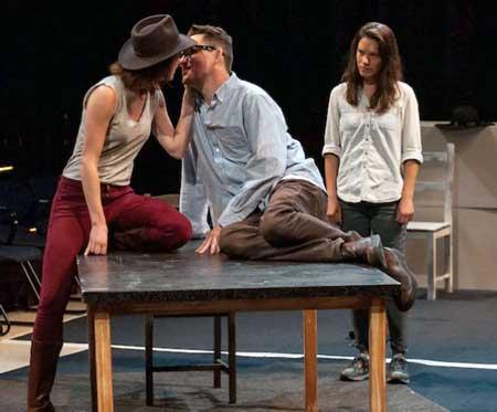Kelly Curran, Eric Tucker, Susannah Millonzi in Bedlam's 'Twelfth Night'