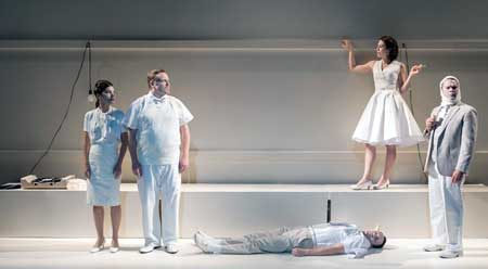 Susannah Millonzi, Tom O'Keefe, Eric Tucker, Kelly Curran, Edmund Lewis in Bedlam's 'What You Will'