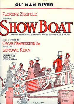 Original 1927 sheet music for 'Ol' Man River' from 'Show Boat'