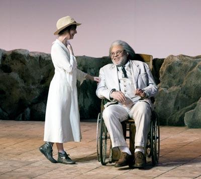 Amanda Plummer as Hannah, James Earl Jones as Nonno in 'The Night Of The Iguana'