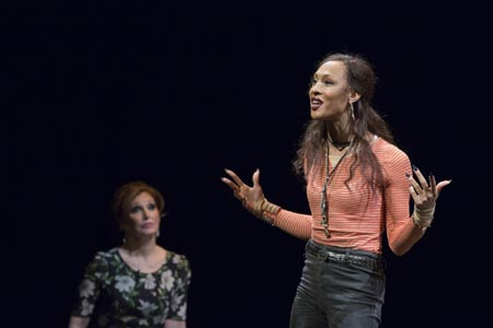 Bianca Leigh as Tatiana, MJ Rodriguez as Luna in 'Trans Scripts, Part I: The Women'