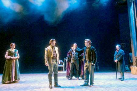 Maureen Keiller, Joe Fria, Will Lyman, Jacob Fishel, Jake Broder in 'Our American Hamlet'