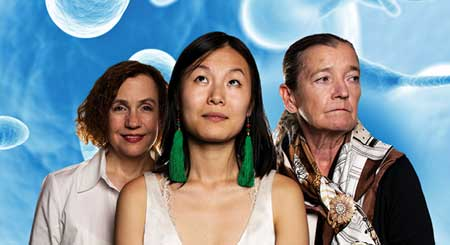 Lee Mikeska Gardner, Karoline Xu, Nancy E. Carroll in 'Precious Little'