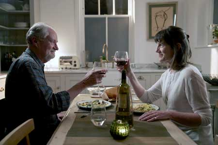 Jim Broadbent as Tony Webster, Harriet Walter as Margaret Webster in 'The Sense of An Ending'