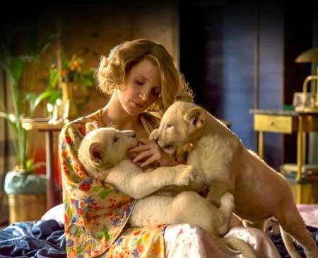 Jessica Chastain as Antonina Zabinski in 'The Zookeeper''s Wife'