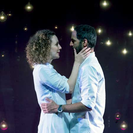 Marianna Bassham as Marianne, Nael Nacer as Roland in 'Constellations'