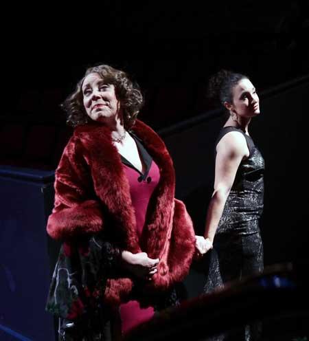 Leigh Barrett as Rose, Kirsten Salpini as Louise (Gypsy Rose Lee) in 'Gypsy'