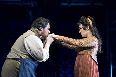 Jonathan Burton as Cavaradossi, Elena Stikhina as Tosca in 'Tosca'