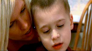 Nancy Korn with her son Lucas Korn in 'Just One Drop'