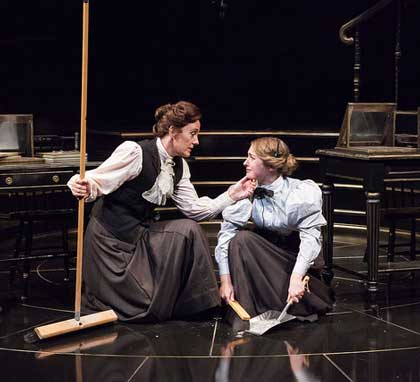 Julia Brothers as Williamina Fleming, Alexis Bronkovic as Henrietta Leavitt in 'Silent Sky'