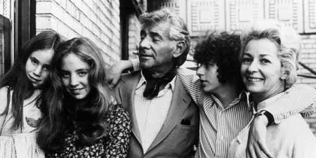 Leonard Bernstein and family