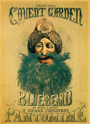 Bluebeard Panto Poster from 1870s