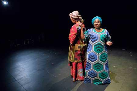 Elvina Ibru and Joke Silva in 'HEAR WORD! Naija Woman Talk True'