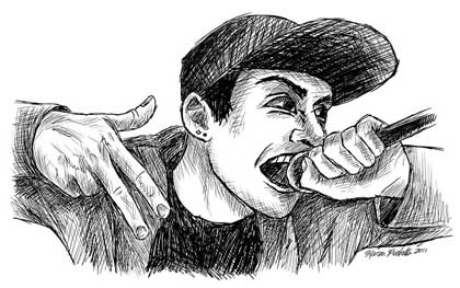 Cartoon of Rapper