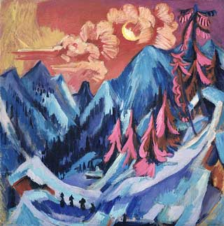 Ludwig Kirchner, 'Winter Landscape in Moonlight' (1919)