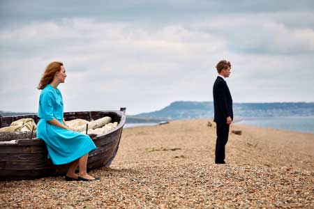 Saoirse Ronan as Florence, Billy Howle as Edward in 'On Chesil Beach'