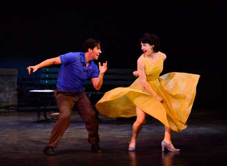 Clyde Alves as Jerry, Julie Eicher as Lise in 'An American in Paris'