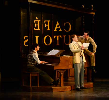 Jeremy Greenbaum as Adam, Stephen Brower as Henri, Clyde Alves as Jerry in 'An American in Paris'