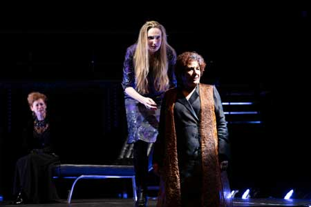 Sarah Sinclair as Duchess of York, Deb Martin as Queen Elizabeth, Bobbie Steinbach as Queen Margaret in 'Richard III'