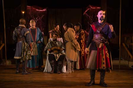 Nael Nacer as Macbeth, and Ensemble in 'Macbeth'