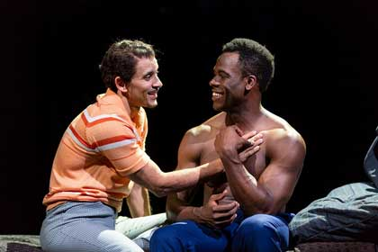 Kyle Vincent Perry as the young Emile Griffith, Victor Almanzar as Luis in 'Man In The Ring'