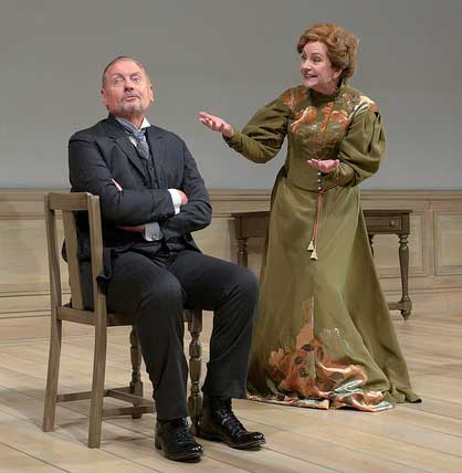 John Judd as Torvald, Mary Beth Fisher as Nora in 'A Doll's House, Part 2'