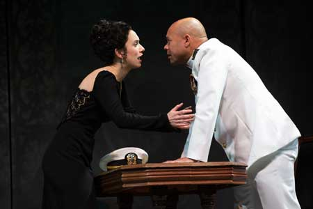 Alejandra Escalante as Desdemona, Chris Butler as Othello in 'Othello'
