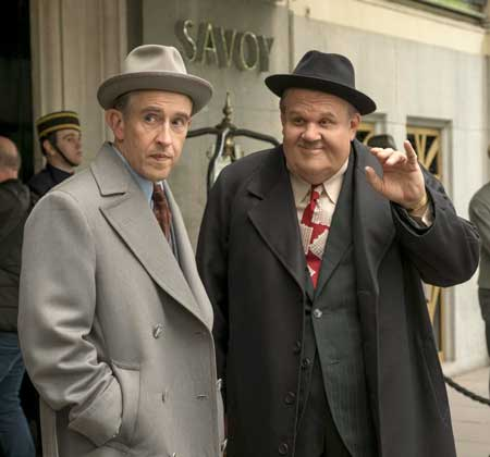 Steve Coogan as Stan Laurel, John C. Reilly as Oliver Hardy in 'Stan and Ollie'