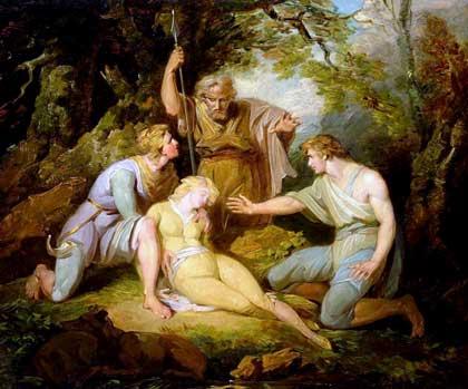 Henry Singleton (1766-1839),'Scene ii Act IV from Cymbeline by William Shakespeare'