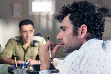 Yaniv Biton as Captain Assi Tzur, Kais Nashif as Salam in 'Tel Aviv on Fire'