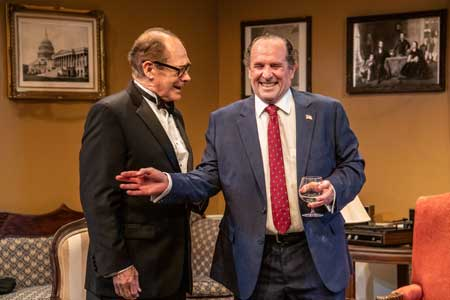 Joel Colodner as Henry Kissinger, Jeremiah Kissel as Richard Nixon in 'Nixon's Nixon'