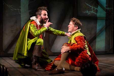 Alex Hurt as Rosencrantz, Jeremy Webb as Guildenstern in 'Rosencrantz and Guildenstern Are Dead'