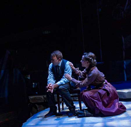 Phil Tayler as Leo Frank, Haley K. Clay as Lucille Frank in 'Parade'