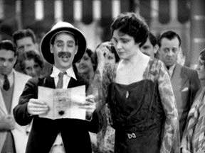 """Groucho Marx and Margaret Dumont in """"Animal Crackers"""""""