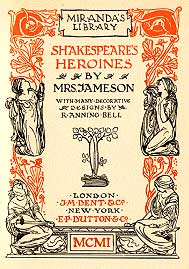 Shakespeare's Heroines (Book Cover)