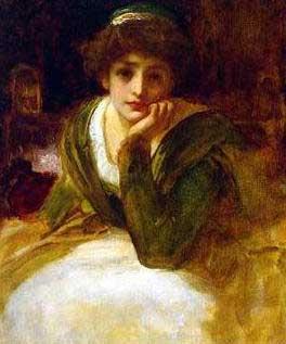 """""""Desdemona"""" (1888) by Frederick Leighton"""