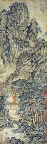 """Wang Meng, """"The Simple Retreat"""" (ca 1370)"""