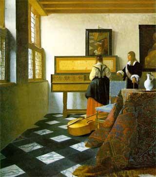 "Johannes Vermeer, ""The Music Lesson"""